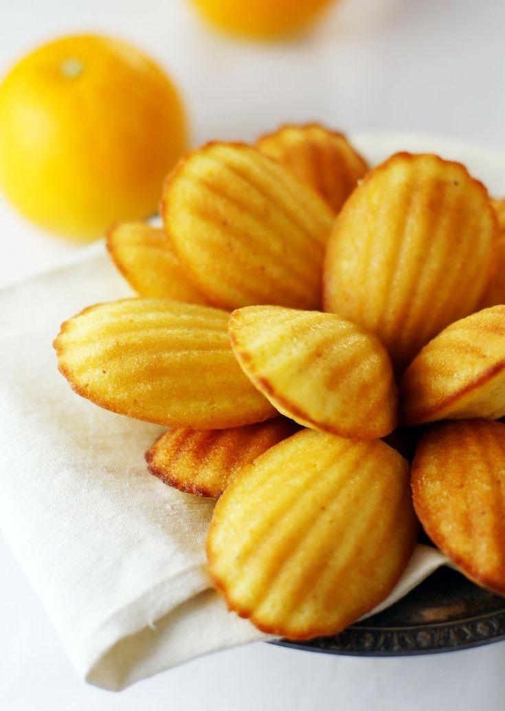 Orange anise madeleines | A Madeleine | Pinterest