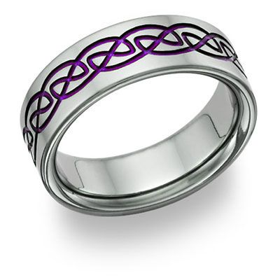 Purple Titanium Celtic Wedding Band Purses Shoes Bling Pinterest