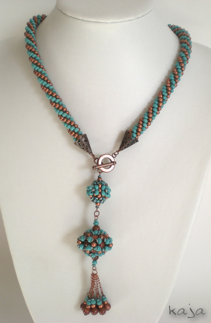 Crocheting Jewelry With Beads : Necklace - Bead crochet Beaded Crochet Pinterest