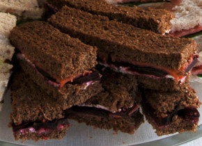 ... tea-sandwiches' Sandwiches. Smoked Salmon with Beets and Dill Yogurt