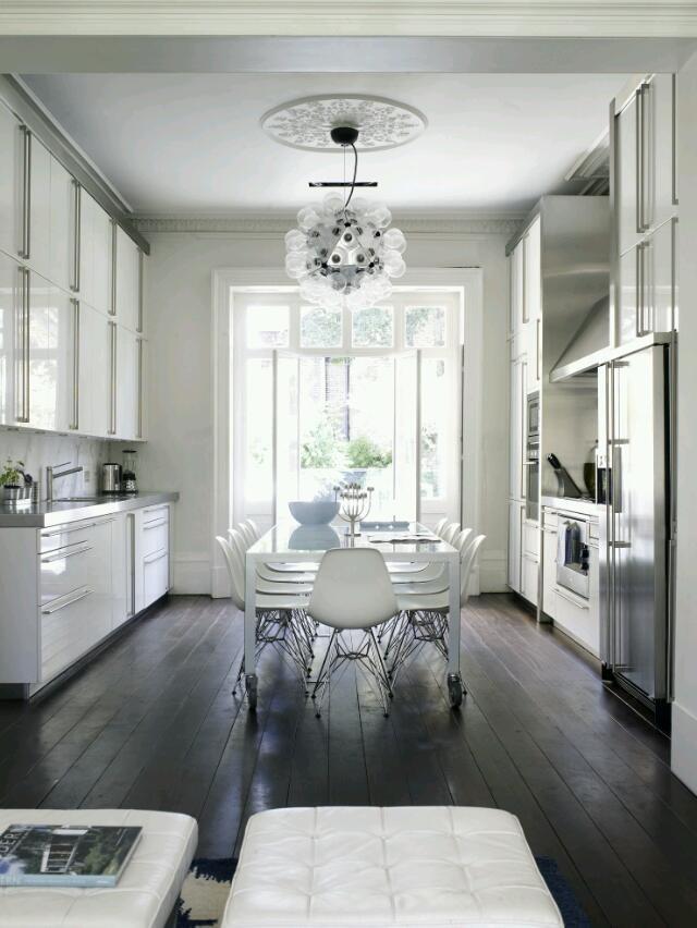 white and silver kitchen Kitchen Design Ideas  Pinterest