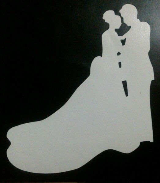 bride and groom stencil