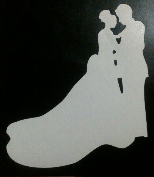 bride and groom stencil