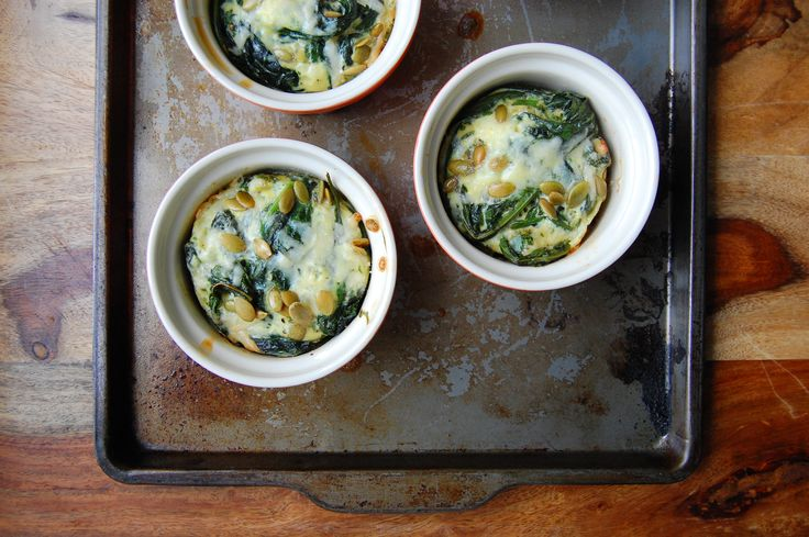 Ramekin Frittatas with Kale, Mint & Pecorino | By: alasully | This ...