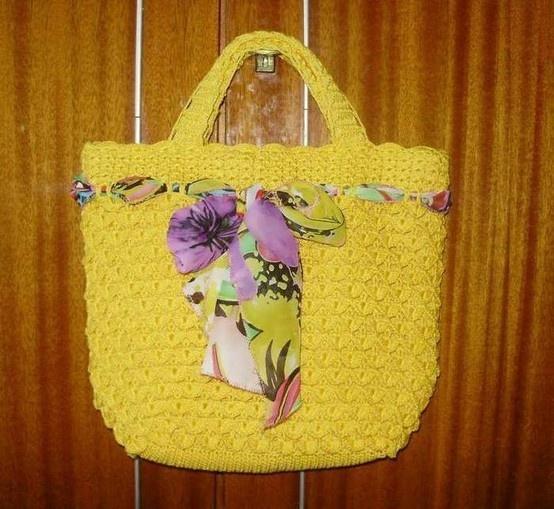 Crafts bags: crochet tutorial Bags Pinterest