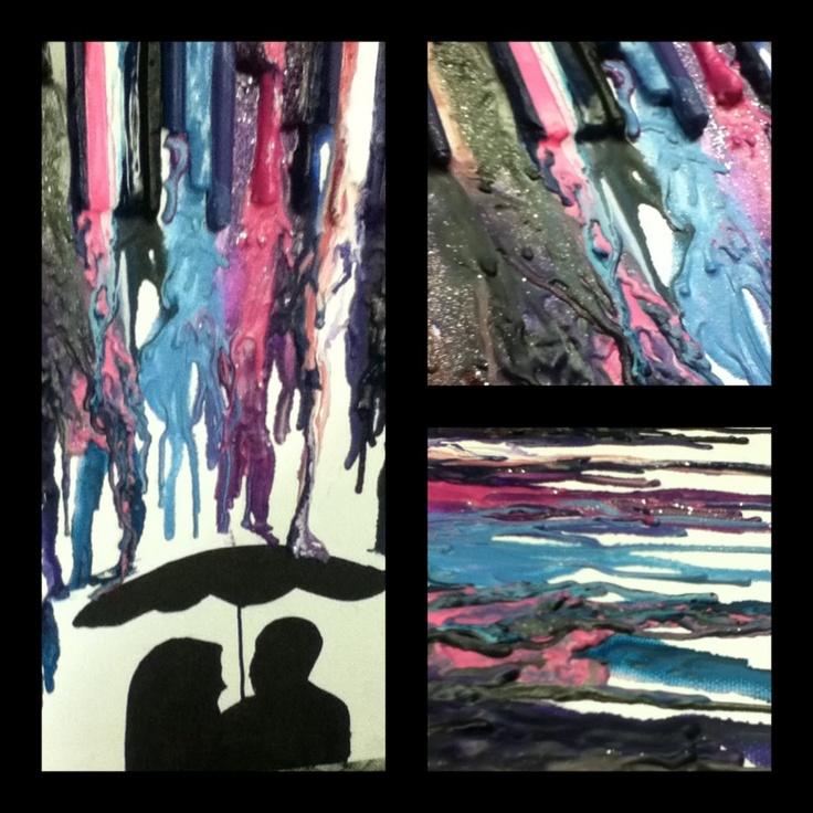 My interpretation of melted crayon art
