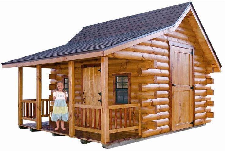 Adorable log cabin playhouses log cabins pinterest for Kids cabin playhouse