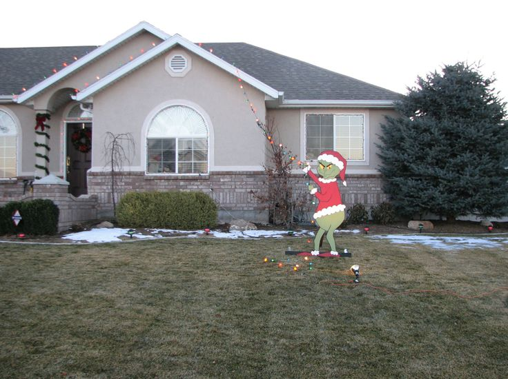 Christmas Decorations Grinch Outdoor : Grinch outdoor yard decor holidays