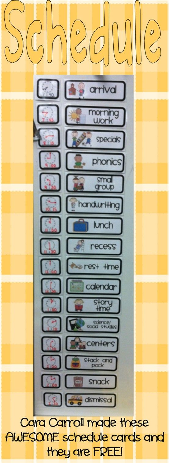 Classroom Schedule Ideas : Free schedule cards classroom ideas pinterest