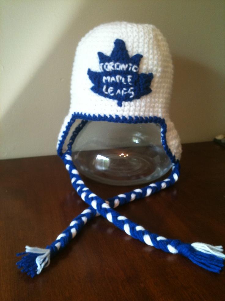 Toronto maple leaf style crochet hat Chic Chapeau ...
