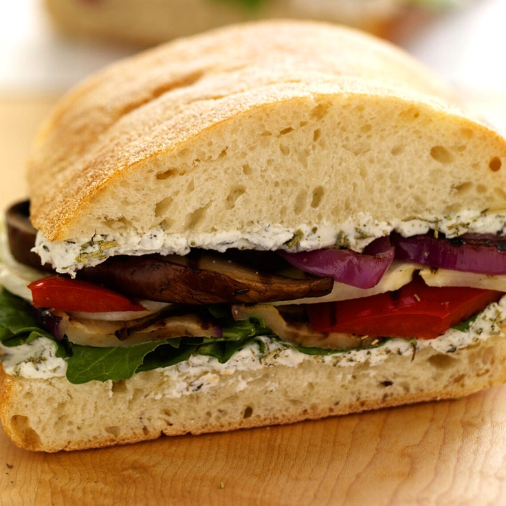 Grilled Vegetable Sandwich with Goat Cheese | Recipe
