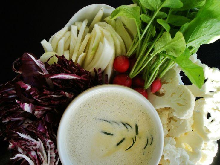bagna cauda dip with vegetables | the birthday dinner | Pinterest