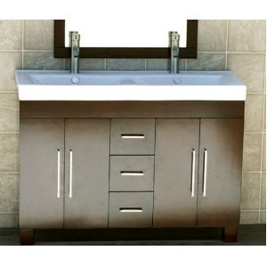 Bathroom Vanity on 48  Bathroom Vanity Cabinet Ceramic Top Sink       Rotherham Master B