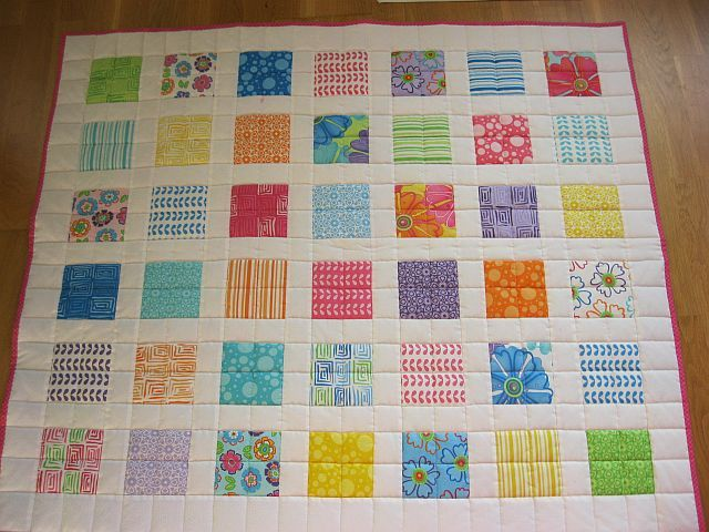 baby quilt from charm pack quilting by zebrapatchwork