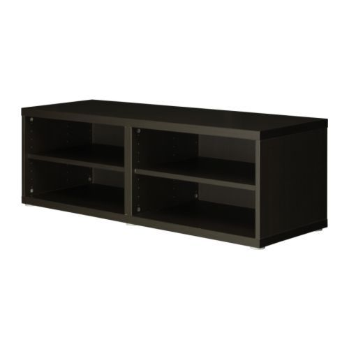Best shelf unit height extension unit black brown for Tall tv stand ikea