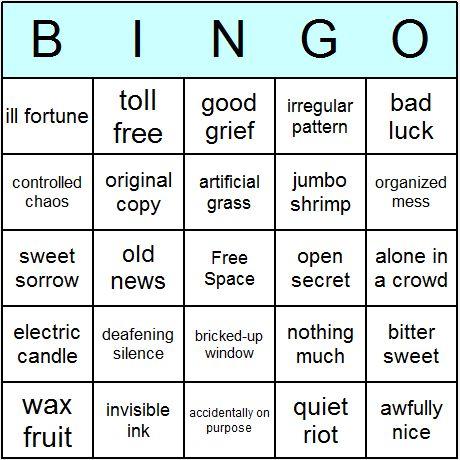 ... -bingo-card.png 460×460 pixels | Figurative Language | Pinte