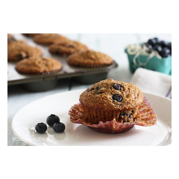 Honey Coconut Blueberry Bran Muffins liked on Polyvore