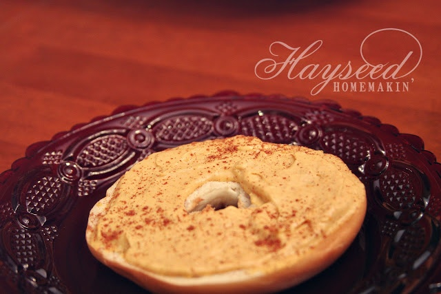 Hayseed Homemakin': Pumpkin Spice Cream Cheese Spread