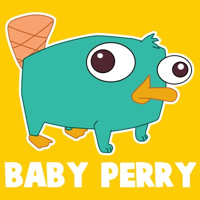 400x400 baby perry the platypus how to draw baby perry the platypus