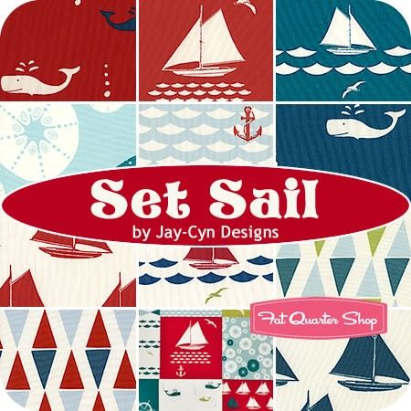 Set Sail Fat Quarter Bundle Jay-Cyn for Birch Organic Fabrics