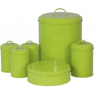 Green Cake Storage Tins