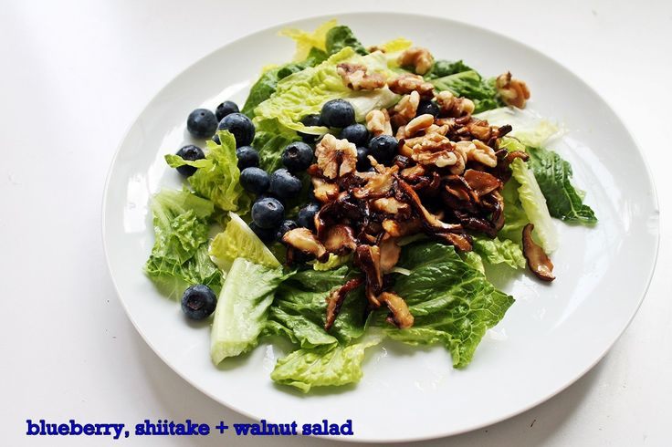Blueberry, Shiitake + Walnut Salad | Mushrooms (edible) | Pinterest