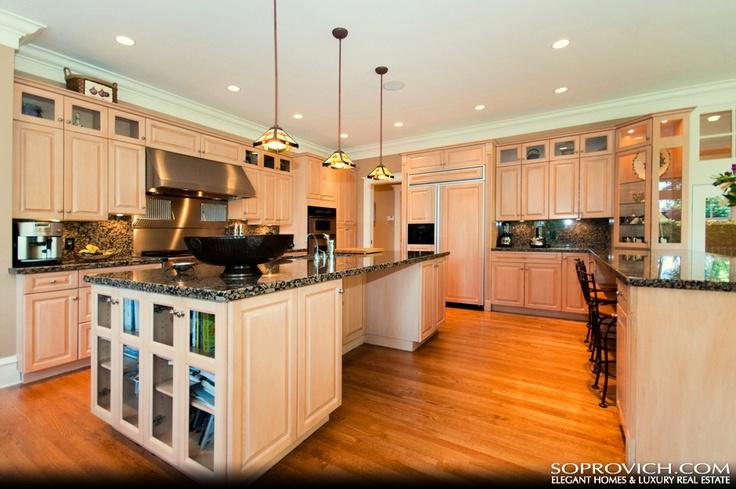 gourmet kitchen with center island