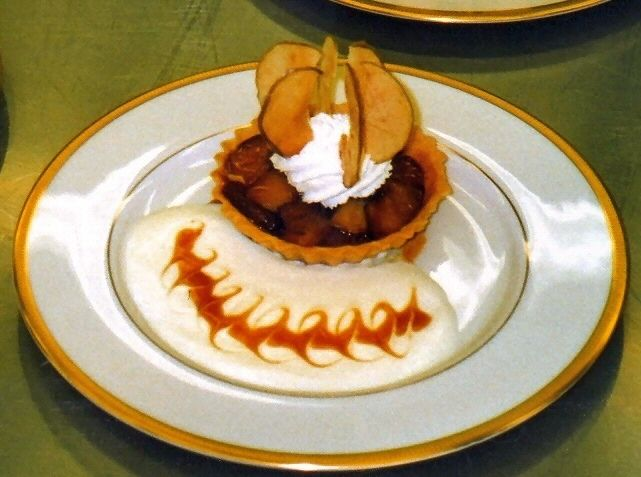 Apple Tart with a Jack Daniels-Caramel Sauce. Fresh whipped cream and ...