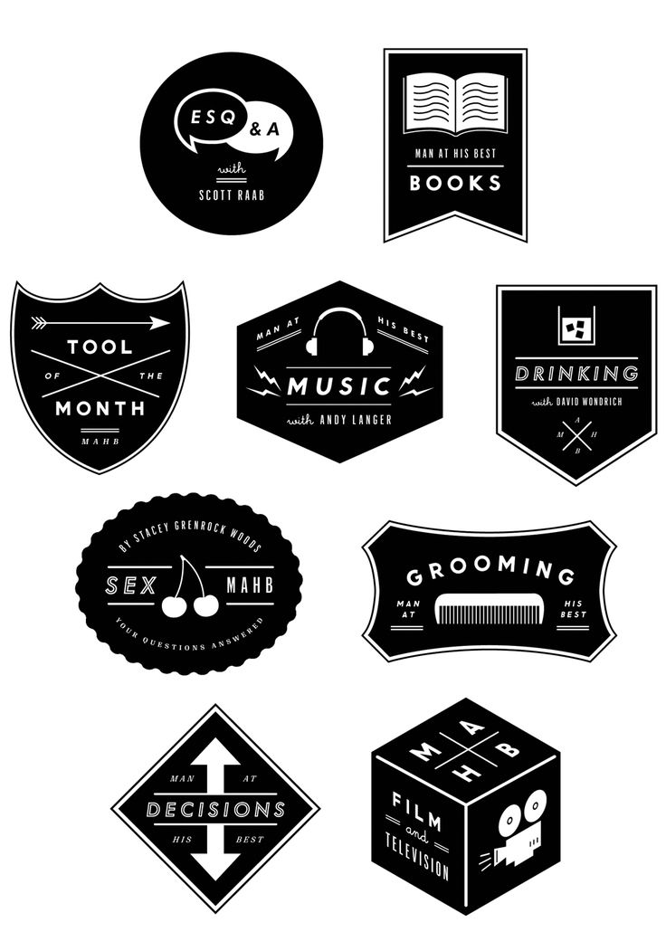 Esquire Section Logos by Eric Jang...super cool