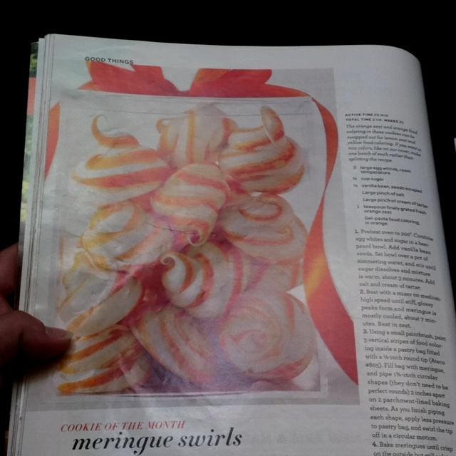 Meringue swirls, Martha Stuart living | Recipes | Pinterest