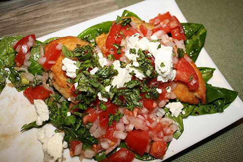 Mediterranean Style Chicken Breasts with Tomato Bruschetta Topping