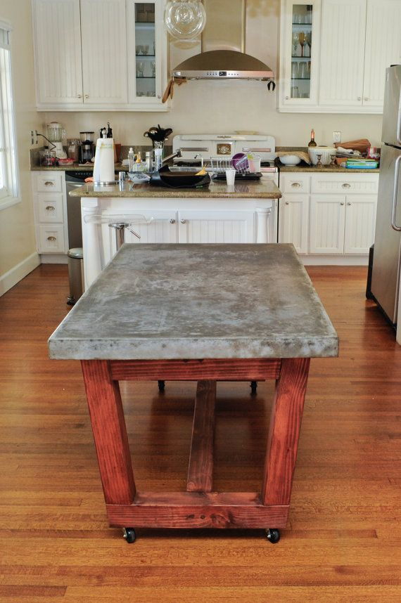 Industrial Clean Ultra Smooth Concrete Dining Room Table