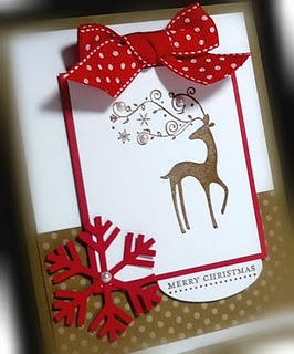 stampin up dasher--I have GOT to get the snowflake punch soon!!!