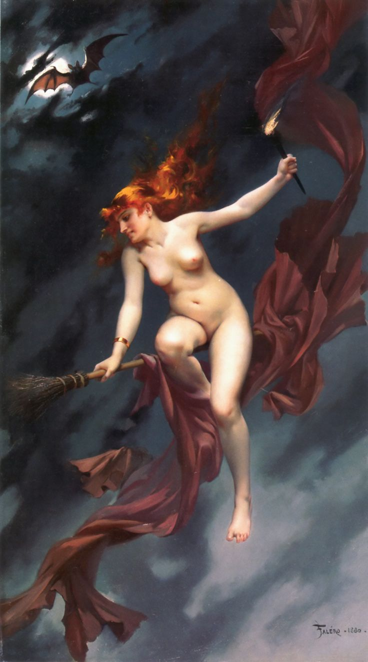 Luis Ricardo Falero(1851-1896) — The Witches Sabbath: Muse of the Night ,1880 (1000×1800)