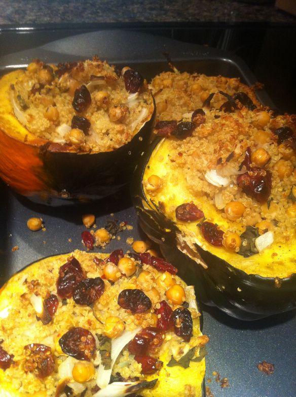 quinoa stuffed acorn squash | For my belly | Pinterest