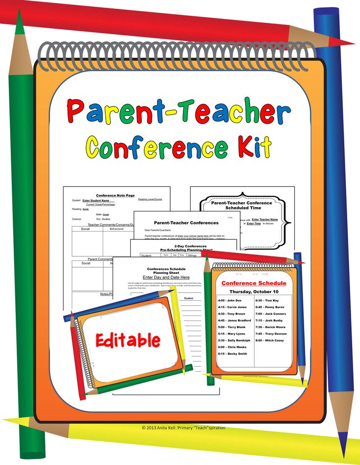 Parent Teacher Conference Form Dzeo Tk