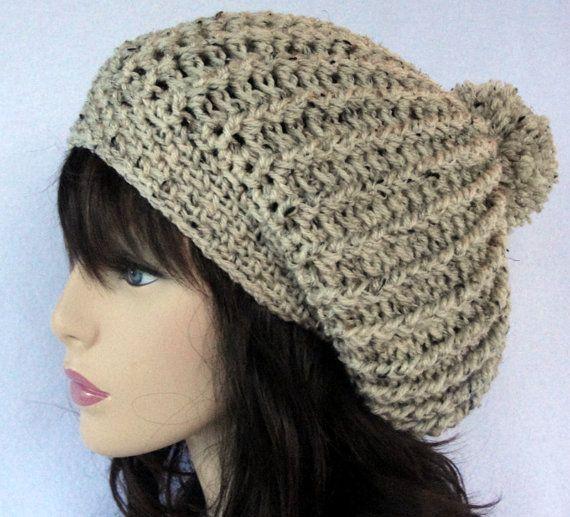 Crochet Patterns Slouchy Beanie : Crochet slouchy hat pattern, crochet slouchy beanie pattern, Manhattan ...