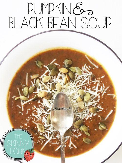 Pumpkin & Black Bean Soup - Another easy peasy fall friendly pumpkin ...
