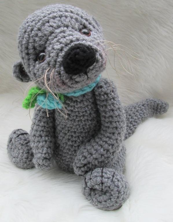 crochet pattern (USDUSD) - sea otter plushie DIY figures ...