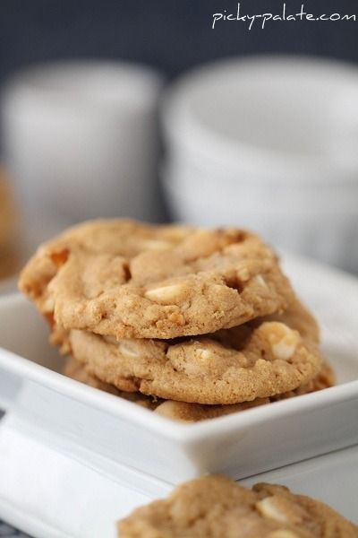Double White Chocolate and Pretzel Peanut Butter Cookies...with Sea S ...
