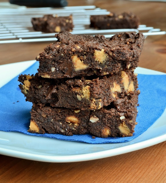 Chocolate Butterscotch Peanut Butter Cookie Bars