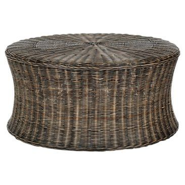 Check out this item at One Kings Lane! Candace Cocktail Ottoman, Black/Natural