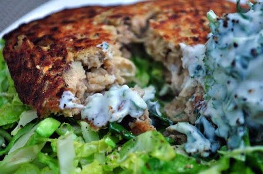 Salmon & Sweet Potato Hash with Cilantro Lime Dressing | What Runs ...