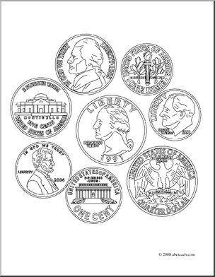 coins coloring pages - photo#5