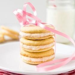 Pink Grapefruit Sandwich Cookies | yummo | Pinterest