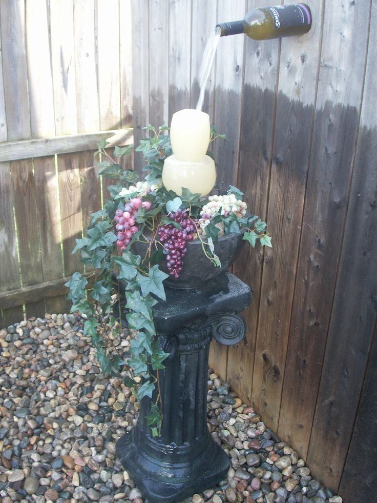 Wine bottle fountain for the home pinterest for Wine bottle fountain
