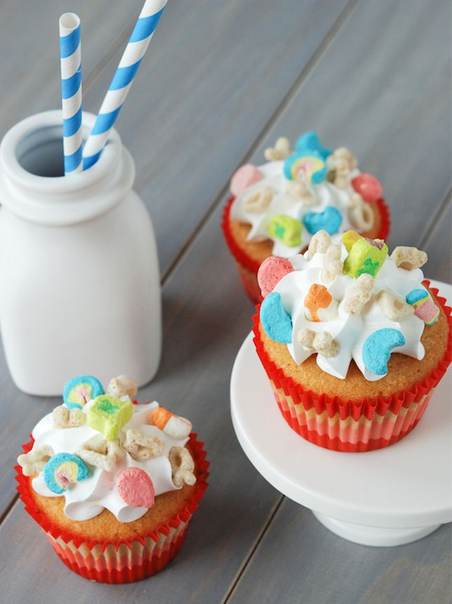 Lucky Charms Cupcakes.