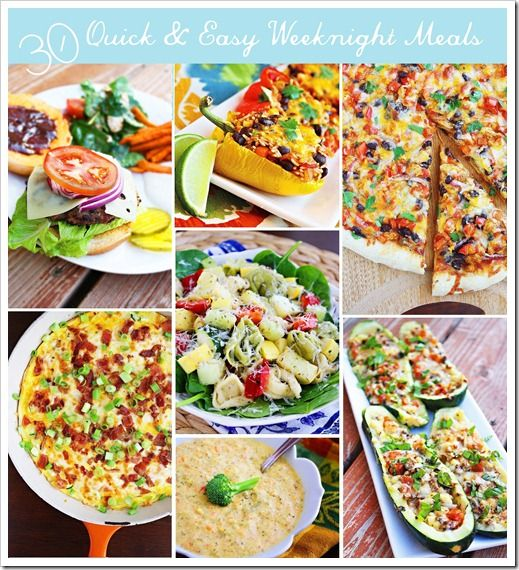 30 Quick & Easy Weeknight Meals