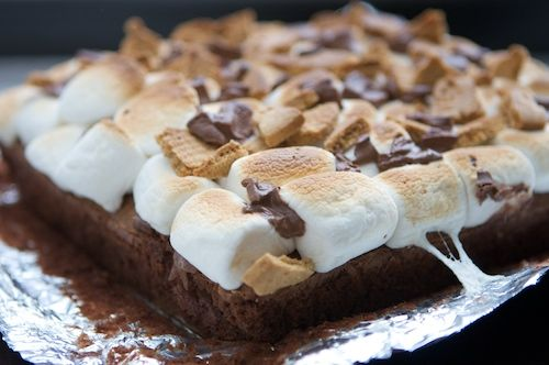 mrs harding cooks: S'mores Brownies