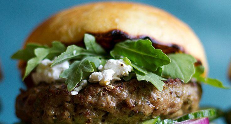 Mediterranean-Spiced Lamb Burger Recipe | Food | Pinterest